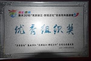 2016年全省龙舟邀请赛优秀组织奖